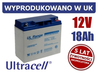 Akumulator 12V 18Ah ULTRACELL 1461