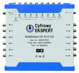 Multiswitch Cyfrowy Expert 9/12 HD