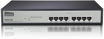 SWITCH NETIS 8-PORT PE6108 100MB RACK 9741