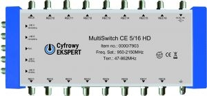 Multiswitch Cyfrowy Expert  5/16 HD