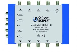 Multiswitch Cyfrowy Expert  5/ 8 HD