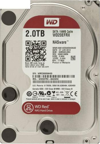 DYSK WD Red WD20EFRX 2TB 64MB SATAIII IntelliPower 2647