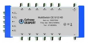 Multiswitch Cyfrowy Expert  5/12 HD