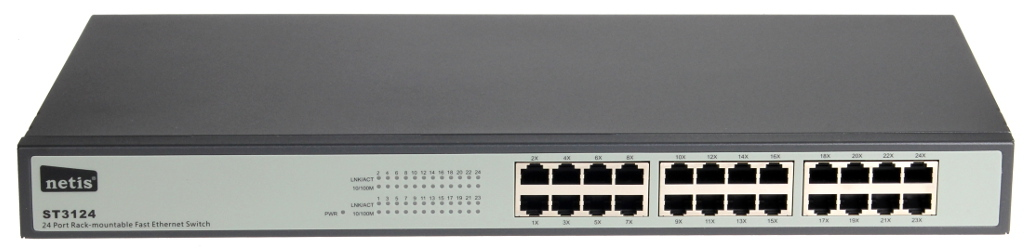 SWITCH NETIS 24-PORT ST3124 100MB RACK  9450